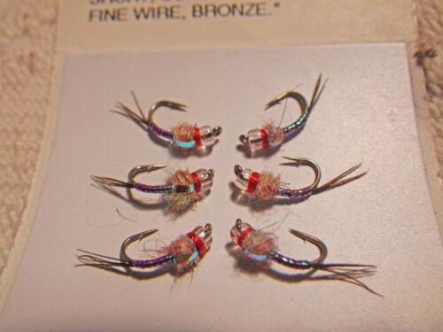 Rainbow Warrior Nymph UV Purple Fly Fishing Flies Trout Flies NEW