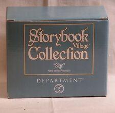 DEPT 56 STORYBOOK VILLAGE SIGN *NIB*
