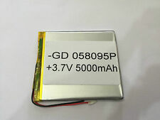 058095P Li-ion Battery 5000mAh For Tab Tablet Device etc. 90mm x 80mm