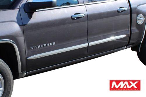 BSCH606 1999-2006 Chevy Silverado Crew Cab Chrome Side Door Body Molding Trim 2