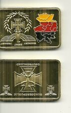 RARE / MEDAILLE LINGOT - GERMANY AIGLE PRUSSIEN CROIX DE FER / COULEUR OR GOLD