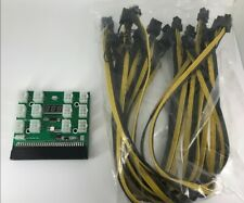 1200W//750W Breakout Board W Button for HP PSU GPU Mining Ethereum 12x 8P Cable