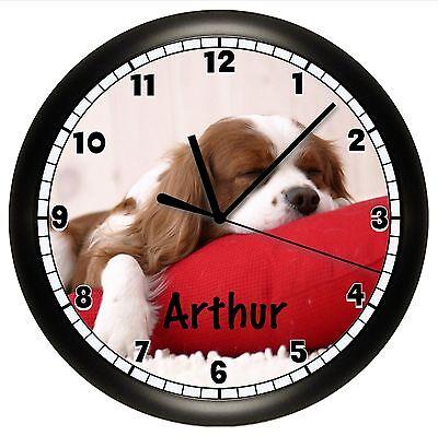 "Cavalier King Charles Spaniel Alarm Desk Clock 3.75/"" Home or Office Decor W227"