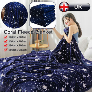 Fleece-Blanket-Large-Star-Soft-Bed-Warm-Sofa-Fur-Throw-Blanket-Double-King-Size