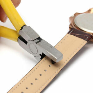 Watch-Band-Strap-Belt-Hole-Puncher-Plier-Eyelet-Leather-Hand-Repair-Tools