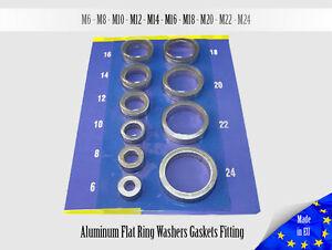 50x-1-0mm-Multiple-Metric-luminum-Flat-Ring-Oil-Drain-Plug-Crush-Washer-Gaskets