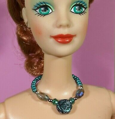 Dreamz RED Crystals and Beads Necklace SET Barbie Doll Jewelry