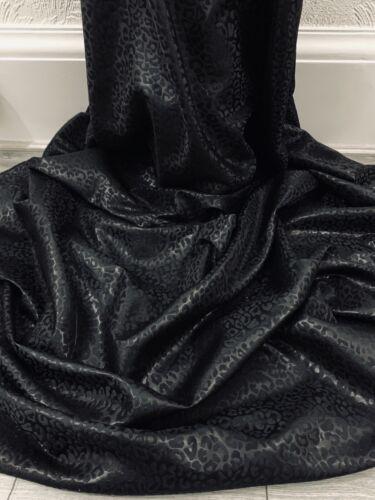 Black Leopard Metallic Brocade Fabric 58/'/' PRICE PER METER
