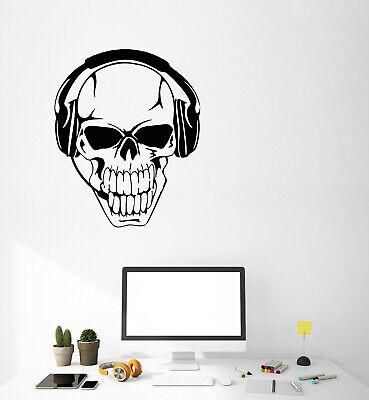 Alien Gamer Headphones Video Games Gaming Vinyl Decal Sticker Wall Art Mural
