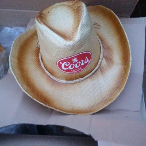 NEW! COORS BANQUET BEER STRAW COWBOY HAT OSFA
