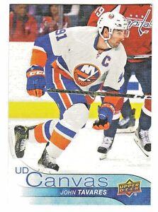 2016-17-Upper-Deck-CANVAS-C171-JOHN-TAVARES-New-York-Islanders
