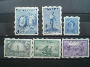 CANADA #274-277,#282-283    MNH   1947-1949