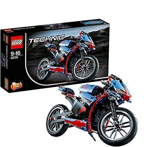 LEGO Technik 42036 Sport Motorrad Spielzeug Kinder Rennmotorrad für Jungen ab 9