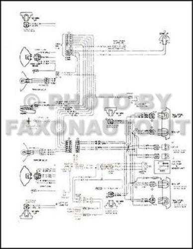 1974-early 1975 GMC Astro 95 Chevy Titan 90 Foldout Wiring Diagram 6 Cyl Cummins