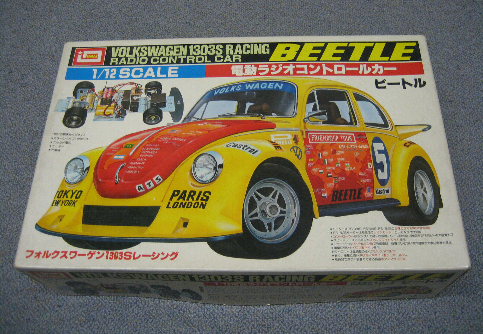 RC IMAI Kit VW Beetle Volkswagen 1303 RACING No.B829 Nuovo Nuovo Con Scatola 1976 (Tamiya)