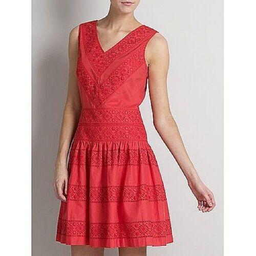 Somerset par Alice Temperley en coton rouge brodé robe nouveau RRP £ 140 Taille 14,18