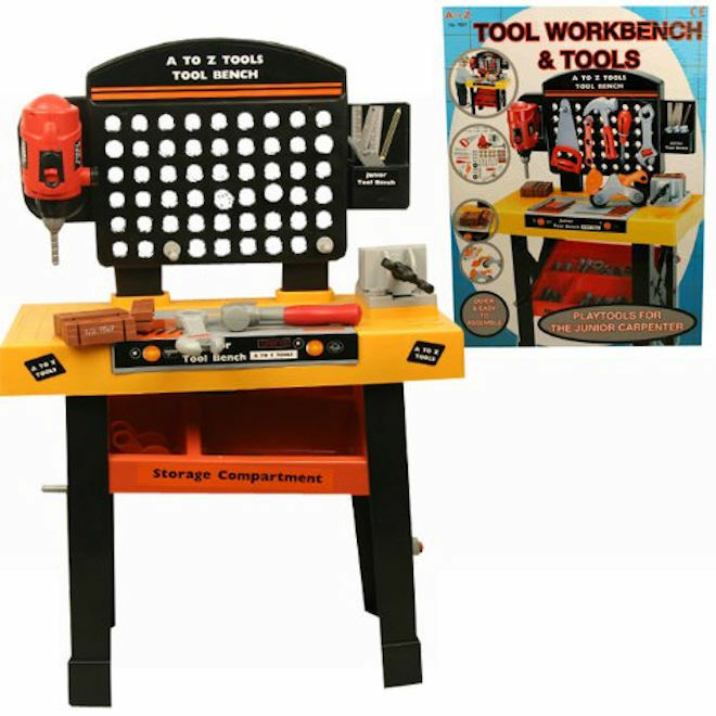 Large Toy Tool Workbench & Accessories Kids Diy Play Set Brand New In Retail Box