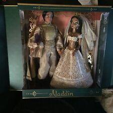 "Limited Edition Disney Jasmine & Aladdin Wedding Doll Set 17"" LE 250 NEW!!!!"