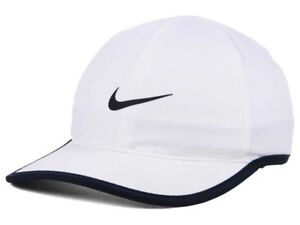 4d19ee4a32a Women s Nike Featherlight Dri-Fit White Hat Adjustable Tennis Hat ...