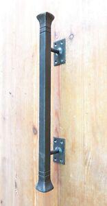 Wrought hardware, Iron door handle Rustic forged handle Barn door handle Metal handle Hand forged handle Metal forged handle