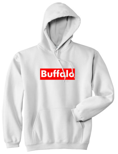 Buffalo New York Red Box Pullover Hoody Hoodie