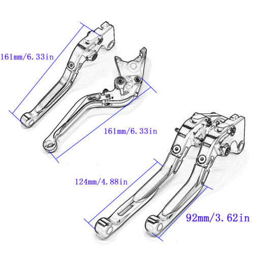 Folding Extendable Brake Clutch Levers FOR Yamaha TMAX500 2008-2010 TMAX530 2015