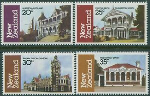 New-Zealand-1982-SG1262-1265-Architecture-part-3-MNH
