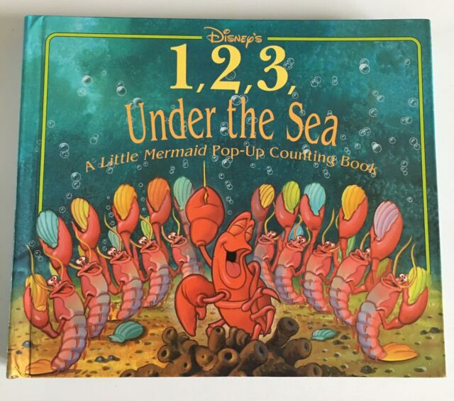 1,2,3 Under the Sea: A Little Mermaid Pop-Up Book DISNEY Counting 1995 Educ