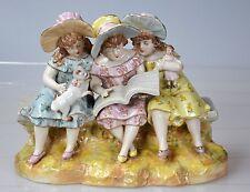 Drei spielende Mädchen Porzellanfigur Porzellan Kinder Figur