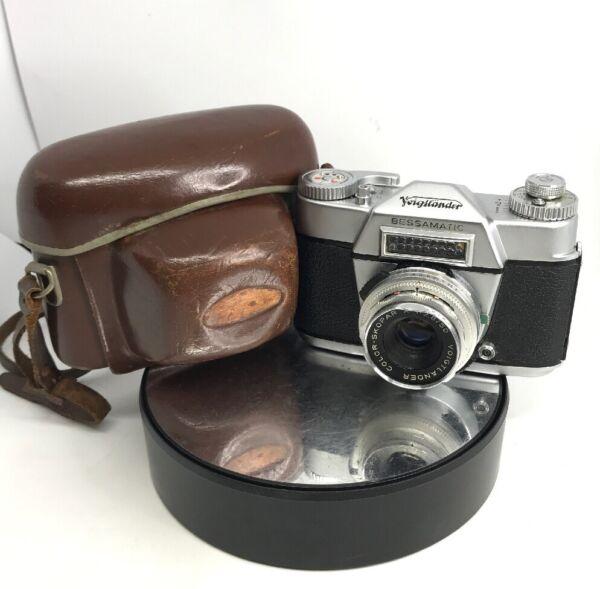 100% De Qualité Vintage Voigtlander Besamatic Film Caméra Avec 50 Mm Lentille F2.8 Travail Inc. Case #664 Large SéLection;