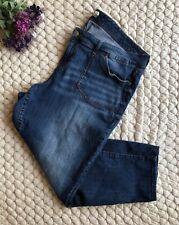 Womens Dark Wash Curvy Straight Leg Jeans Plus BHFO 8144 LRL Lauren Jeans Co