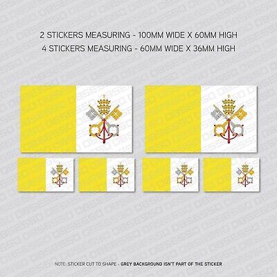 SKU5496 6 x Italy Italian Flag Vinyl Stickers Decals Window Car Van