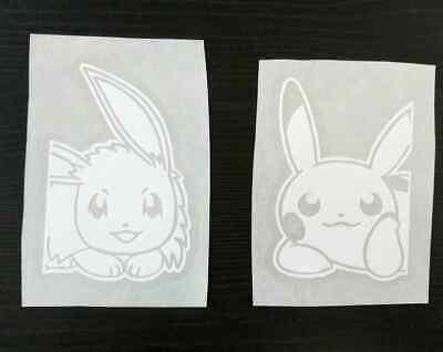 Gameboy Pokemon Pikachu /& Eevee Laminated Stickers Vinyl Sticker