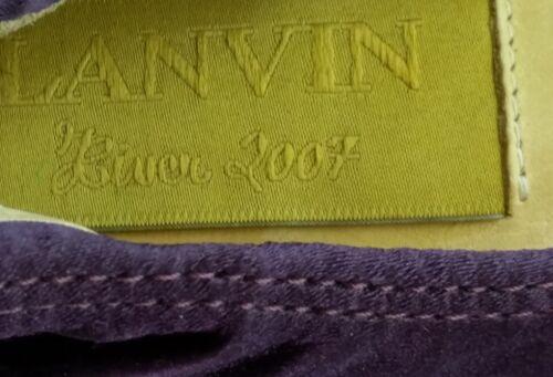 Shoes Women's 2007 Leather Flat Hiver Purple Lanvin 37 Ballet Satin Size Plum qfaw1xP