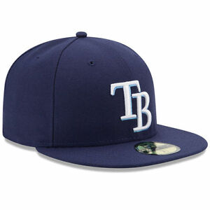 sale retailer e749a 84c15 Image is loading New-Era-5950-TAMPA-BAY-RAYS-Game-Dark-