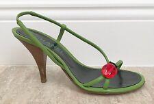 Chanel Ladybug Slingback Sandals with Glass Ladybug Size 36 Size 6
