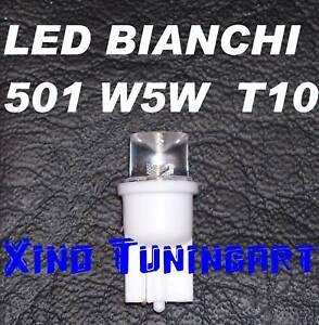 N°2 Luci Lampade LED BIANCHI 5000K Attacco T10 W5W Per Auto Moto Posizioni Targa