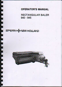 New-Holland-940-and-945-Rectangular-Baler-Operator-Instruction-Manual-Book