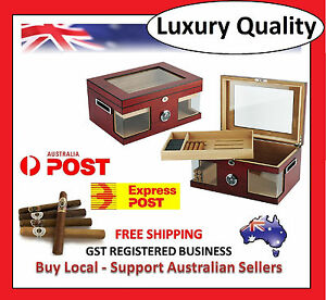 Hand-Made-120-Count-Cigar-Humidor-Box-Wood-Spanish-Cedar-Humidifier-Hygrometer-4