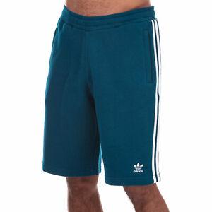 Hommes-Adidas-Originals-3-Rayures-Shorts-en-Bleu-Marine