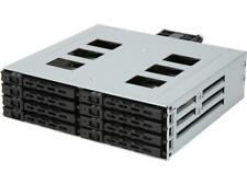 "Athena Power BP-15827SAC an 1 x 5.25"" External Drive Bay to 8 x 2.5"" SSD / HDD H"