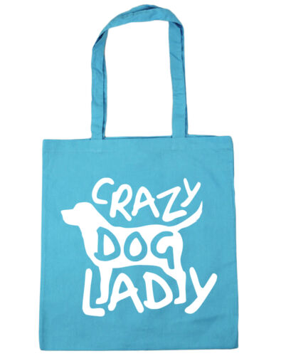 Crazy Dog Lady Tote Bag for life Shopping puppy walking pet holdall cute