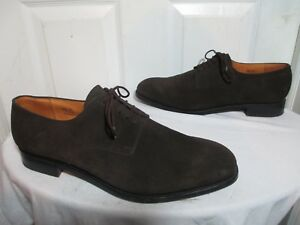 9ff497955ffdb8  850 JM WESTON 556 MEN S BROWN SUEDE DERBY SHOES MADE IN FRANCE MKD ...
