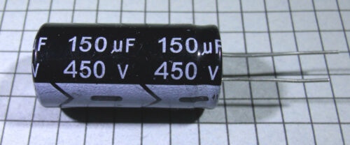150uF 450V 105ºC 18x35mm Electrolytic Capacitor 2pcs per lot
