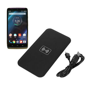 Qi wireless charging charger pad for motorola droid turbo xt1254 image is loading qi wireless charging charger pad for motorola droid publicscrutiny Gallery
