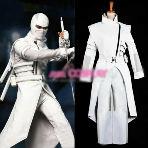 G I Joe Retaliation Cosplay Storm Shadow Paladin Pure White Uniform Costume Cool