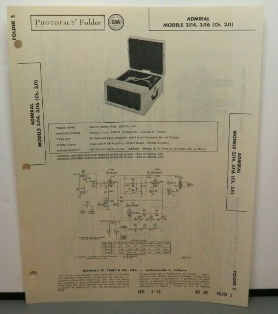 Sams Photofact Service Manual 392