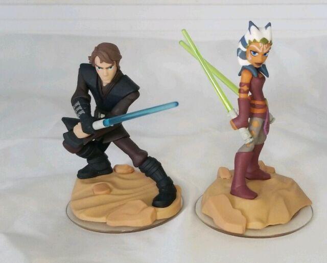 Disney Infinitt Star Wars Figures Agsoka Tano And Anakin Skywalker