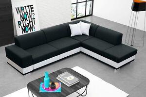 wohnlandschaft eckgarnitur sofa david mit schlaffunktion und bettkasten top ebay. Black Bedroom Furniture Sets. Home Design Ideas