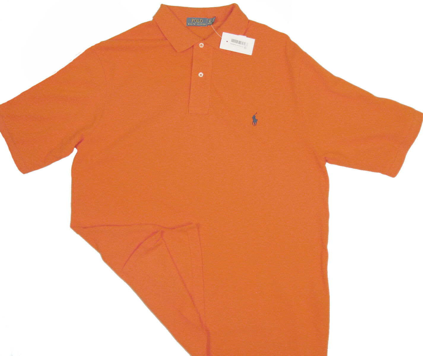 463f45978 NEW Polo Ralph Lauren Big   Tall Polo Shirt LT Tall orange Mesh Fabric